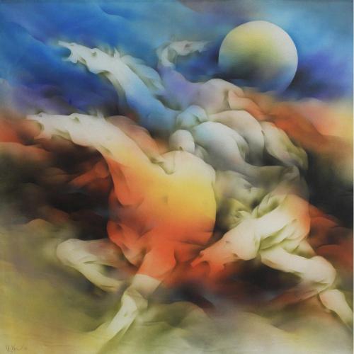 Vishnu Sonavane Horses painting