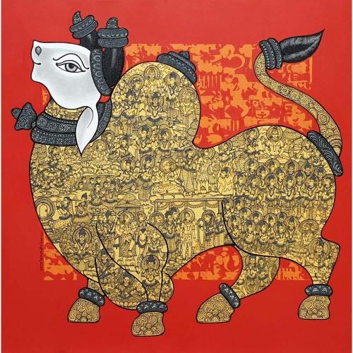 Vivek Kumavat Nandi/bull Painting