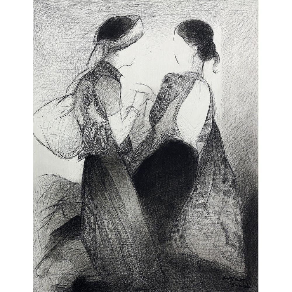 Vrindavan Solanki figurative painting