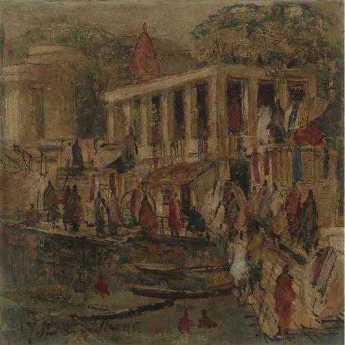 Yashwant Shirwadkar banaras painting